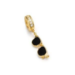 Berloque Semi Joia Óculos Com Pedras de Zircônia