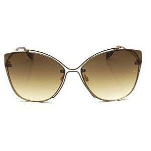 Óculos De Sol Ana Hickmann Ah3175 01b Dourado / Marrom Degradê