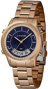 Relógio Lince Feminino Rosé/Azul LAR4640L