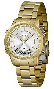 Relógio Lince Feminino Dourado LAG4640L