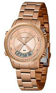 Relógio Lince Feminino Rosé LAR4640L