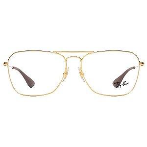 Óculos Ray Ban Dourado Brilho RB3610V