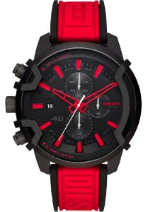 Relógio Diesel Esportivo Vermelho e Preto Griffed DZ4530/1PN