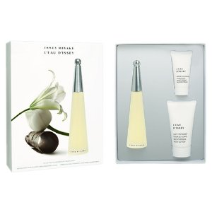Kit Issey Miyake Leau DIssey Feminino - Perfume EDT 50ml + Body Lotion 75ml + Shower Gel 30ml
