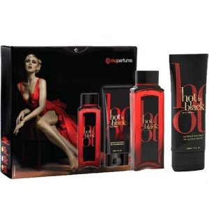 Kit Nu Parfums Hot Is Black - Perfume 100ml + Body Lotion 100ml