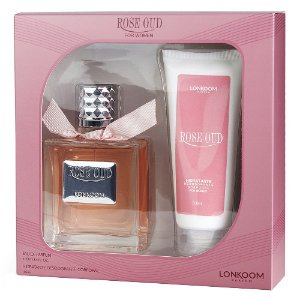 Kit Lonkoom Rose Oud Feminino - Perfume 100ml + Body Lotion 100ml