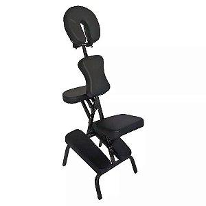Cadeira de Massagem Shiatsu Quick Massage Profissional Dobrável Portátil Preta