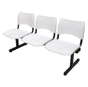 Cadeira Longarina Recepção Branca