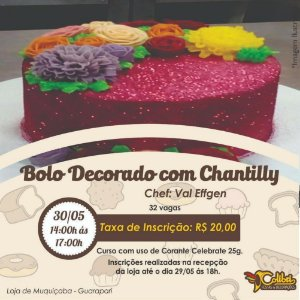 Curso Bolo decorado com Chantilly