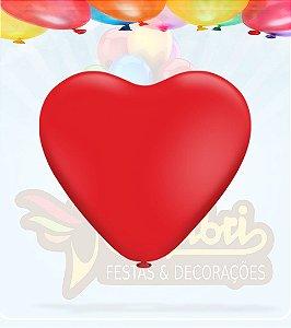 Balão coração rosa pic pic 50cm