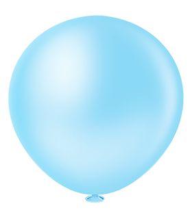 Balão 40 Maxi Ball Liso Azul Claro Pic Pic
