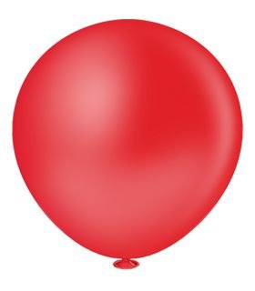 Balão Fatball 250 Liso Vermelho Pic Pic