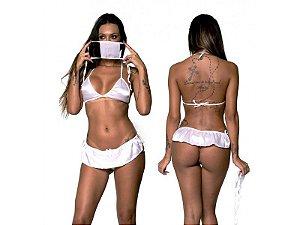 Fantasia Erótica Feminina Doutora com Máscara