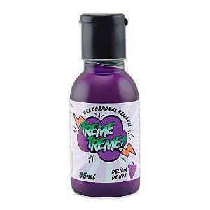 Vibrador Líquido Beijável Sabor Delícia de Uva 35 ml