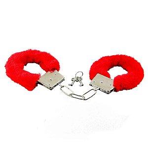 Algema de Metal - Pelúcia Vermelha - Importada