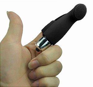 Vibrador Preto de Dedo Preto - Com 10 Velocidades