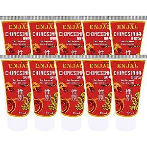 Chinesinha Sexy Excitante Aquecedor - 15 ml - 10 Un