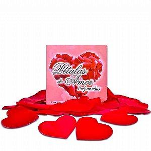 Pétalas Perfumadas Formato Coração - 100 Unidades