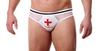 Cueca Sensual Masculina - Emergência  - Cruz Vermelha