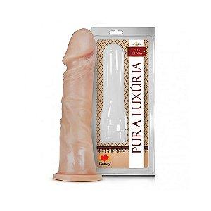 Pênis Realístico - Veias e Base para Cinta - 18 x 4,4cm