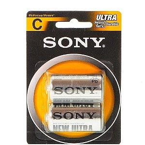 Pilhas Zinco Carvão Formato C para Vibradores - Sony