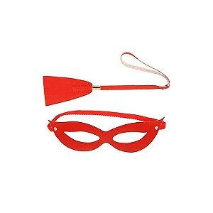 Chibata Vermelha - Máscara - Em Couro - 50 Tons