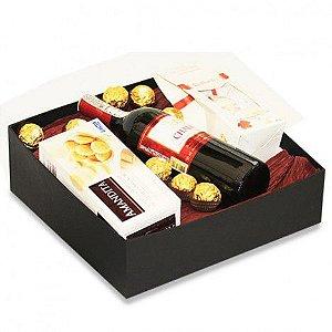 Presente Especial com Vinho Suave e Chocolates Finos