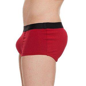 Cueca Mini Boxer Enchimento Frontal e Traseiro Vermelha Tam. M