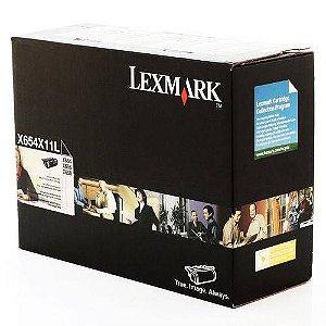 Toner Lexmark Original X654X11L | X654X11B Black X654 | X656 | X658