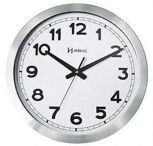 Relógio De Parede Herweg Modelo – 6408 – Cor Alumínio Escovado