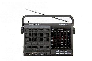Rádio Portátil Motobras 6 Faixas (AM/FM/62m/49m/31m/25m) - Entrada USB e Memory Card -MODELO: RM-PU32AC