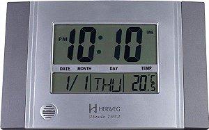 Relógio de Parede / Mesa Herweg Digital - REF 6472 - Cor Cinza