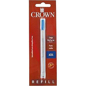 Carga Esferográfica para Caneta Crown - Ponta Média - Tipo Cross - Cor Azul - CA12009A
