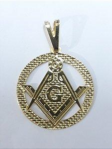 Medalha / Pingente Maçonaria Folhado a Ouro 18k