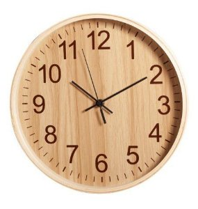 Relógio de Parede Herweg - REF 6478 - Madeira Carvalho Claro