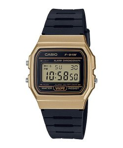 RELOGIO CASIO F-91WM-9ADF DIGITAL - DOURADO
