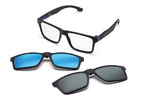 Óculos Mormaii Receituário Swap Clip On M6057a4156 Preto Fosco com lentes Adicionais