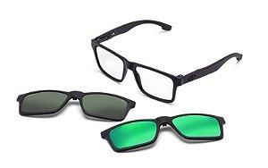 Óculos Mormaii Receituário Swap Clip On M6057ACE56 Preto Fosco com lentes Adicionais
