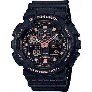 RELOGIO CASIO G-SHOCK CAMOUFLAGE SERIES GA-100GBX-1ADR ANADIGI
