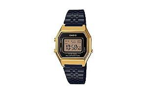 Relógio Casio Feminino Vintage LA680WEGB-1ADF - Dourado e Preto