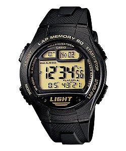 Relógio Casio Digital W-734-9AVDF - 60 Laps Memory