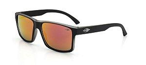 Óculos Mormaii Solar Masculino Modelo LAGOS M0074A8711 Preto Fosco com Lentes Epelhadas