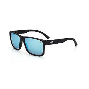 Óculos Mormaii Solar Masculino Modelo LAGOS M0074A1497 Preto Fosco Lentes Azul Ice Espelhadas