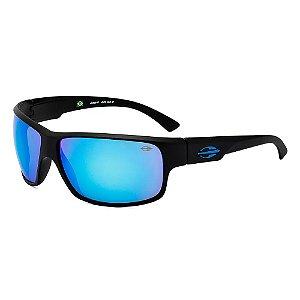 Óculos Mormaii Solar Masculino Modelo JOACA II - 00445A1412 - Preto com Lentes Espelhadas Azul
