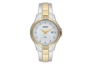 Relógio Orient Feminino FTSS1097-S1SK Em Aço inox com detalhe Folhado a Ouro 18K e Cristais