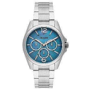 Relógio Orient Feminino FBSSM032-G2SX Multifunção, Aço Inox