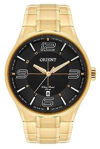 Relógio Orient Masculino MGSS1136-P2KX Análogo Aço Inox Dourado - Preto