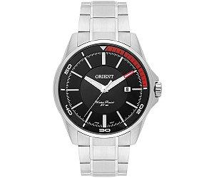 Relógio Orient Masculino MBSS1296-P1SX Análogo Aço Inox - Preto detalhe Vermelho