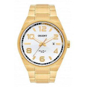 Relógio Orient Masculino MGSS1134S2KX Análogo Aço Inox Dourado - Prata