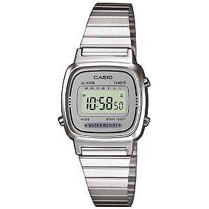 Relógio Casio Feminino Vintage LA670WA-7DF - Prata